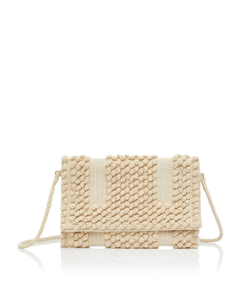 KATHERINE LOOM CLUTCH BAG