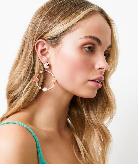 ROSE GOLD STATEMENT JEWEL EARRINGS