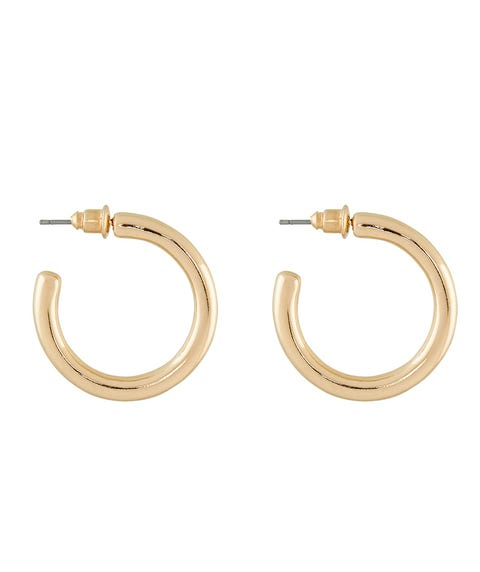GOLD MINIMAL HOOP EARRINGS