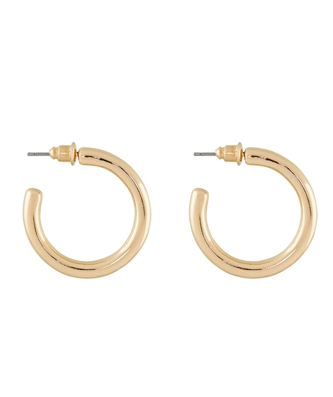 GOLD MINIMAL HOOP EARRINGS