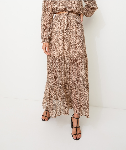ANIMAL PRINT YORYU MAXI SKIRT