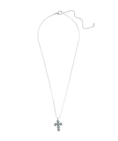 SILVER & TURQUOISE CROSS NECKLACE PACK