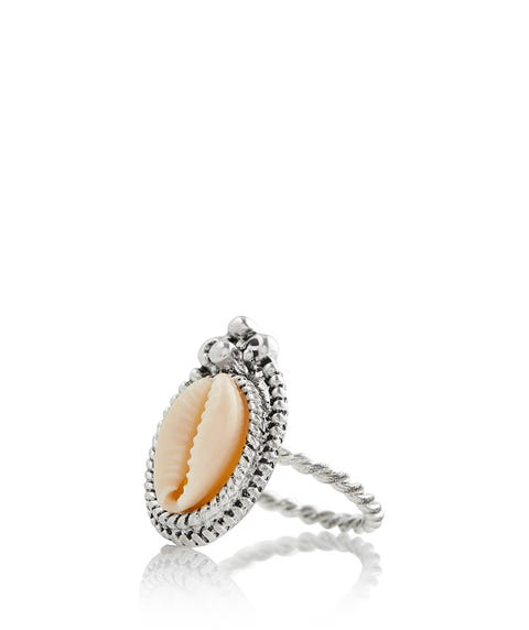 BOHO COWRIE SHELL BOARDER RING