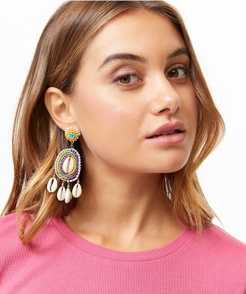 COWRIE SHELL CARNIVAL EARRINGS