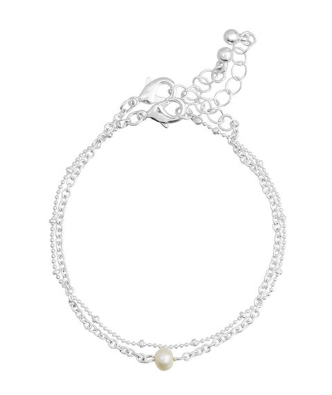 SILVER PEARL CHAIN ANKLET PACK