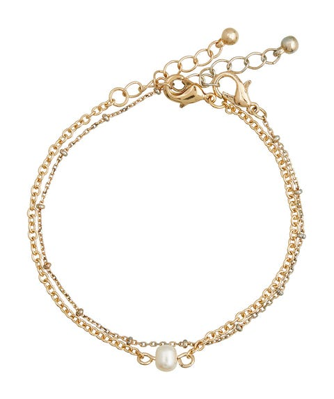 GOLD PEARL CHAIN ANKLET PACK