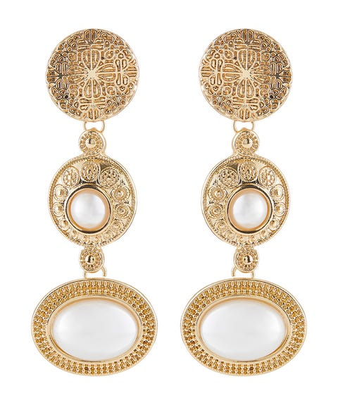 VINTAGE PEARL STATEMENT EARRINGS