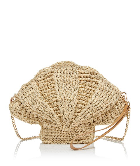 MICHELLE STRAW CLUTCH BAG
