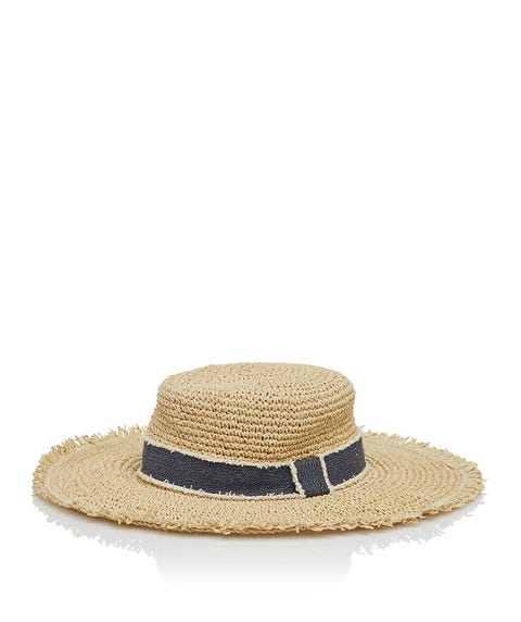DENIM TRIM SUN HAT