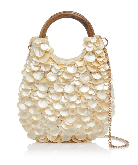 UNDER THE SEA SHELL CLUTCH BAG