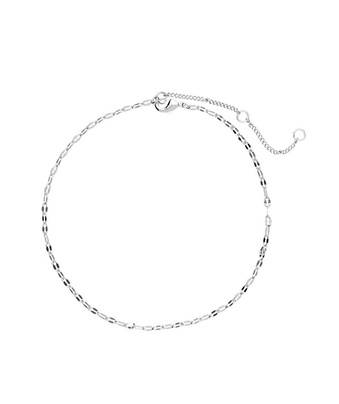 SILVER FINE CHAIN ANKLET
