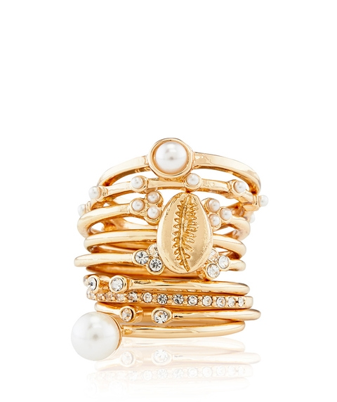 STELLA SHELL & PEARL RING PACK