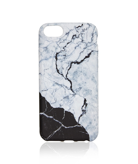 6+/7+/8+ MONOCHROME MARBLE PHONE CASE