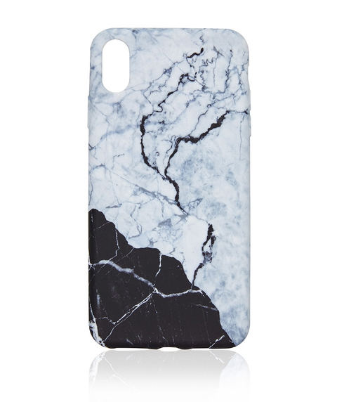 XS MAX MONOCHROME MARBLE PHONE CASE