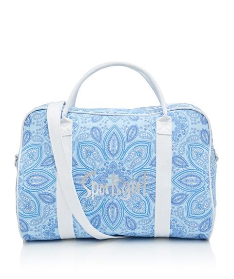 BLUE PAISLEY DUFFLE BAG