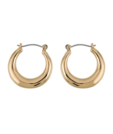 GOLD CHUNKY MINIMAL HOOP EARRINGS