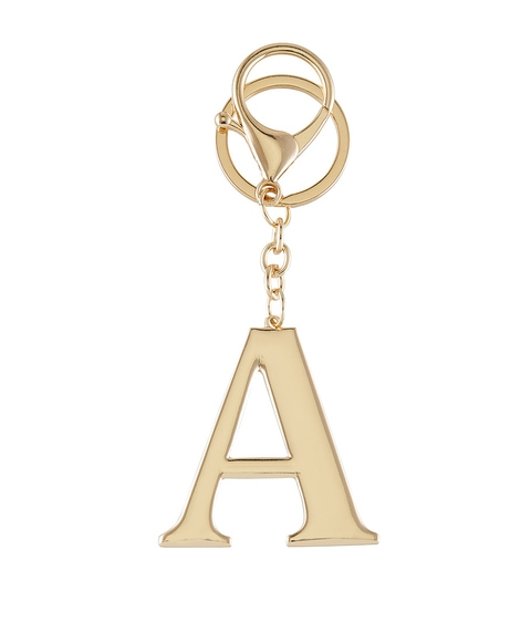 GOLD ALPHABET KEYRING PACK 1