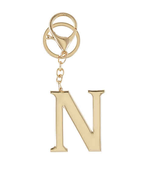 GOLD ALPHABET KEYRING PACK 3