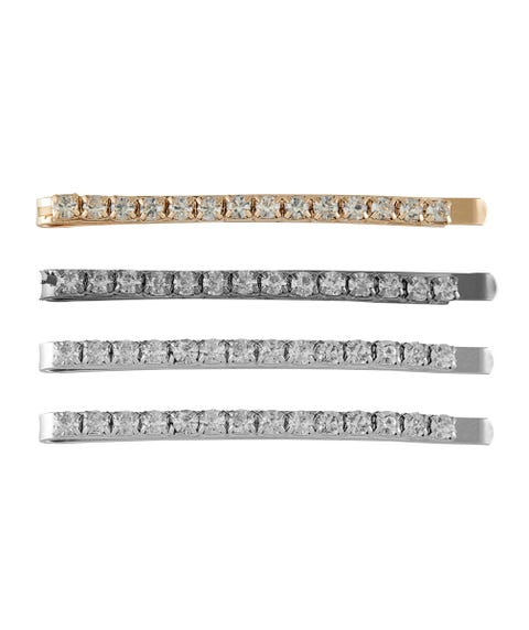 MIXED DIAMANTE HAIR CLIP PACK