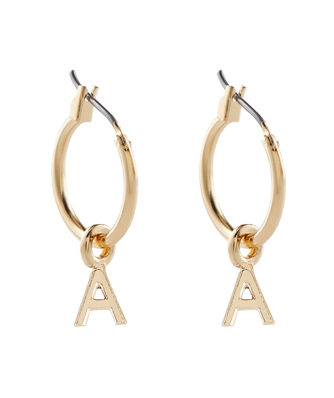ALPHABET HOOP EARRING PACK 1