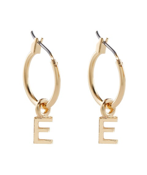 ALPHABET HOOP EARRING PACK 2