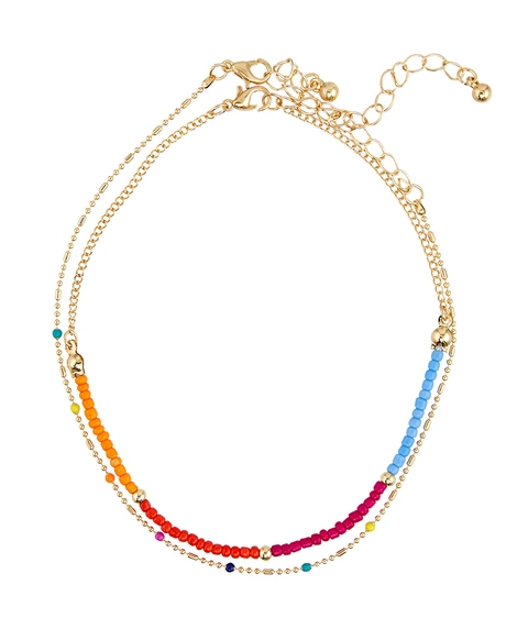 MULTI SEED BEAD & CHAIN ANKLET PACK