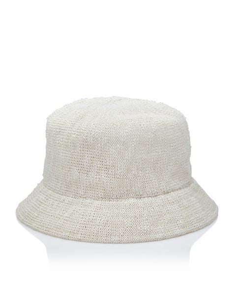 CREAM TEXTURED BUCKET HAT