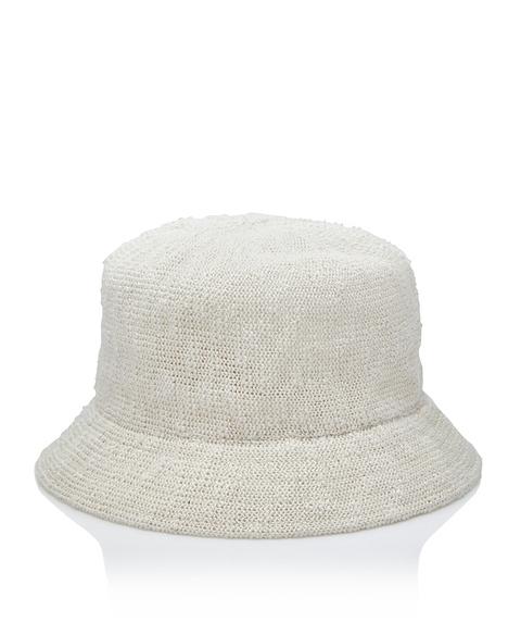 CREAM TEXTURED BUCKET HAT