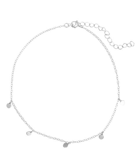 SS DELICATE DISC ANKLET