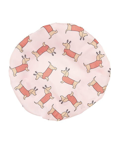 CHRISTMAS SAUSAGE DOG SHOWER CAP