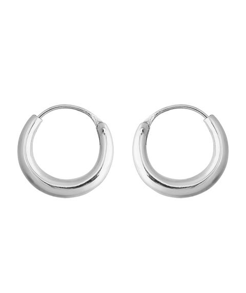 SS MINIMAL THICK HOOP EARRING