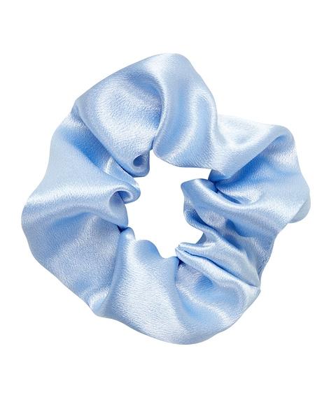 BABY BLUE SATIN SCRUNCHIE
