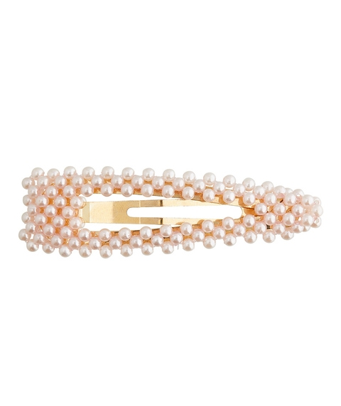 PALE PINK PEARL SNAP HAIR CLIP