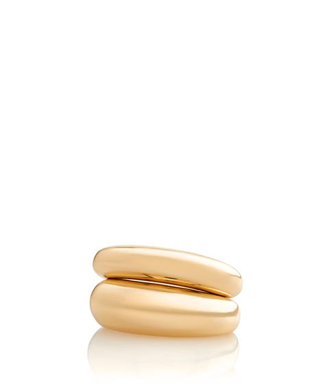GOLD CHUNKY STATEMENT RING PACK