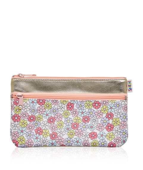 BETTY FLORAL DOUBLE ZIPPER BEAUTY BAG