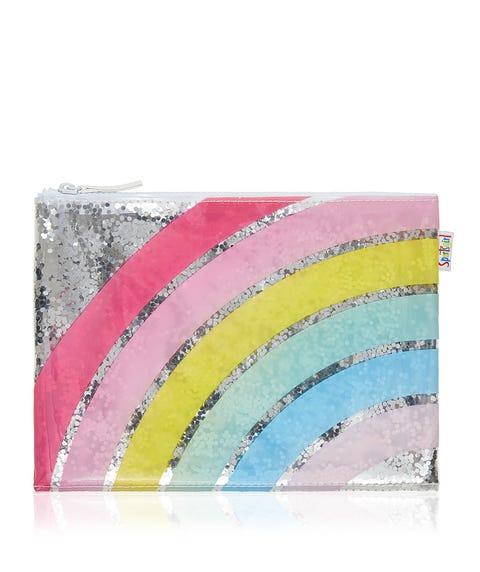 RAINBOW GLITTER BEAUTY BAG