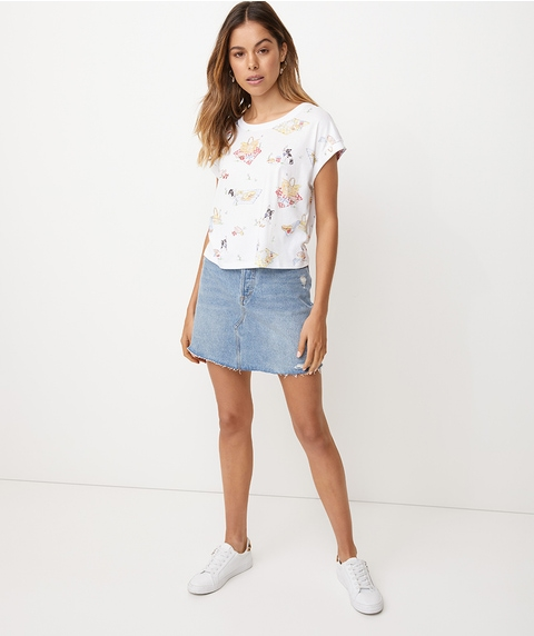 FRENCHY PICNIC CROP TEE