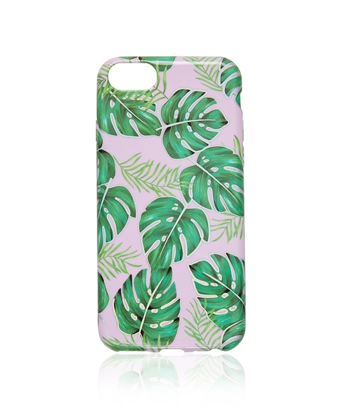 6/7/8 PLANTS ON PINK PHONE CASE