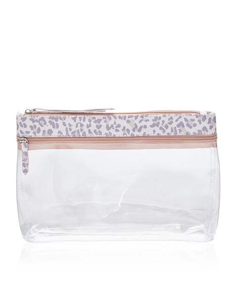 KYLIE LEOPARD BEAUTY BAG