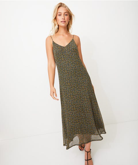 MINI DITSY MESH SLIP DRESS