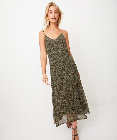MINI DITSY MESH SLIP DRESS