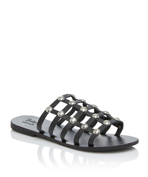 SAVANAH STUDDED LEATHER SLIDE