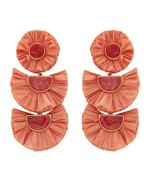 ROSE TIERED RAFFIA EARRINGS