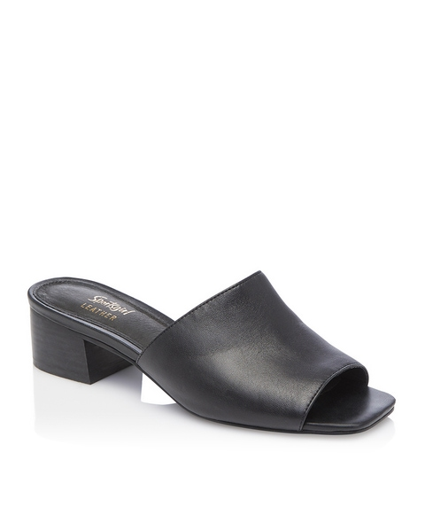 LUCIE LEATHER MULE HEEL
