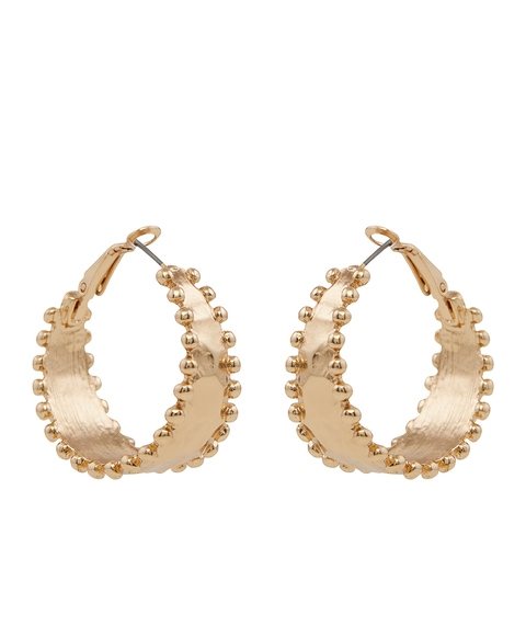 GOLD ESSENTIAL HOOP EARRING