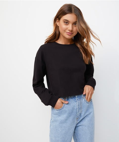 CUT OFF LONGSLEEVE TOP
