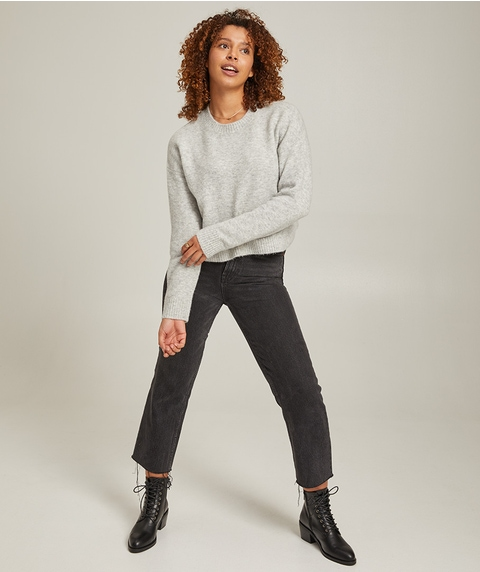 RIB TRIM CROPPED JUMPER