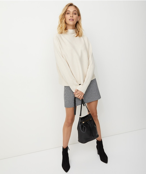 BONDED HIGH NECK JUMPER