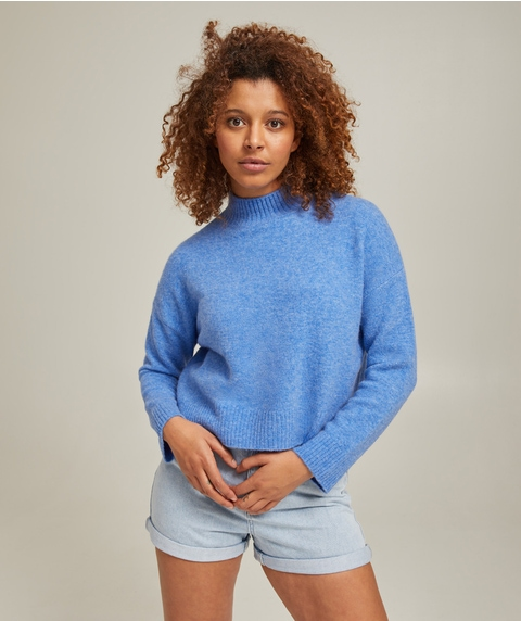 HIGH NECK CROP JUMPER