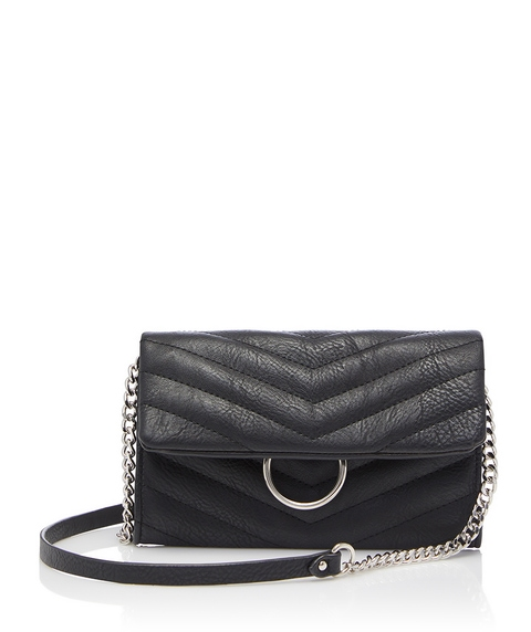 ZOE QUILTED CHAIN DETAIL SLING BAG
